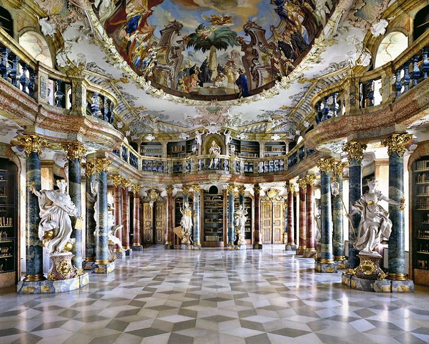 Wiblingen Abbey Library, Wiblingen, Germany
