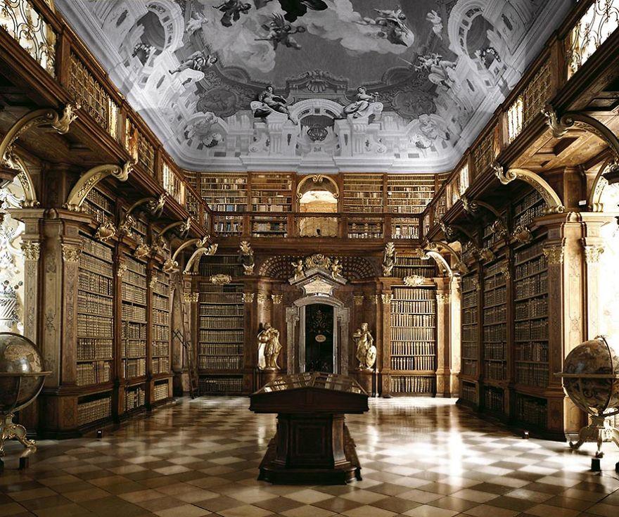 Melk Abbey Library, Melk, Austria