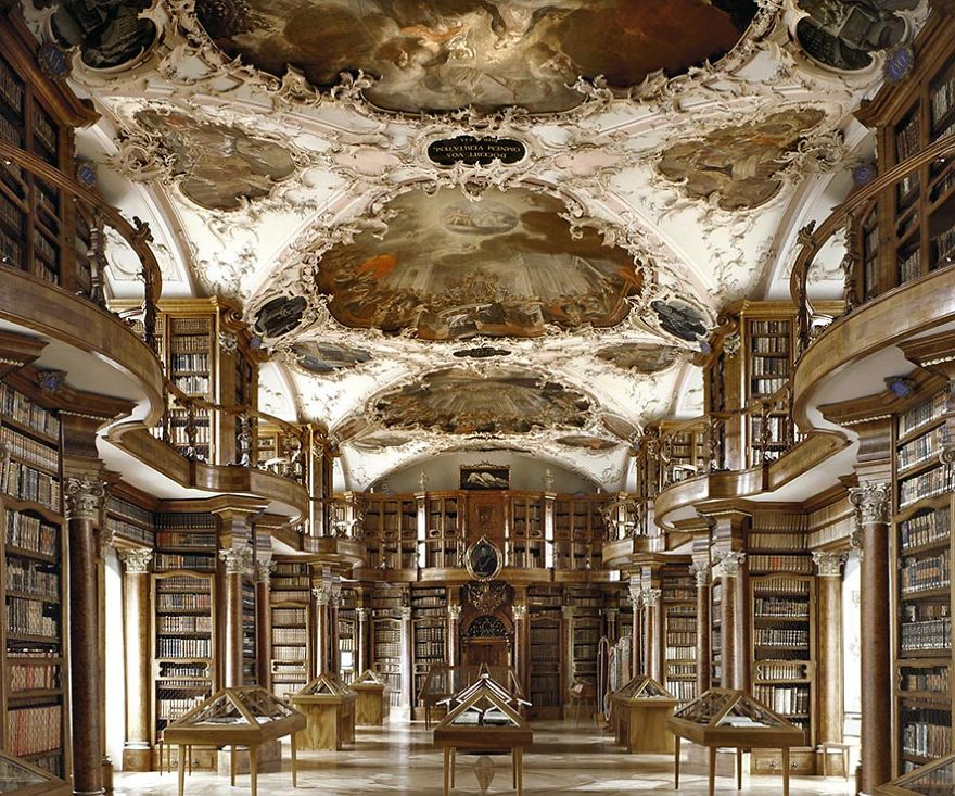 Baroque Architecture Library Of Saint Gall, Gallen, Switzerland
