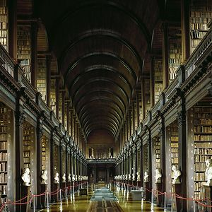 Famous Trinity College Library, Dublin, Ireland