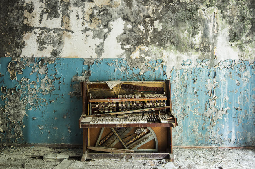 A Lonely Piano Resides In A Former School