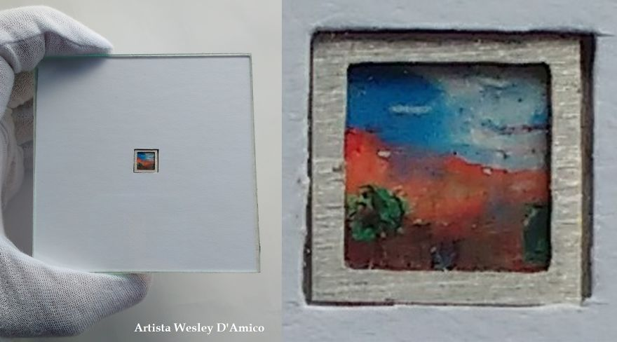 The Nature On The Blue Sky, Dry Land With Live Dyes, Trees Sprouting From The Artist's Hand