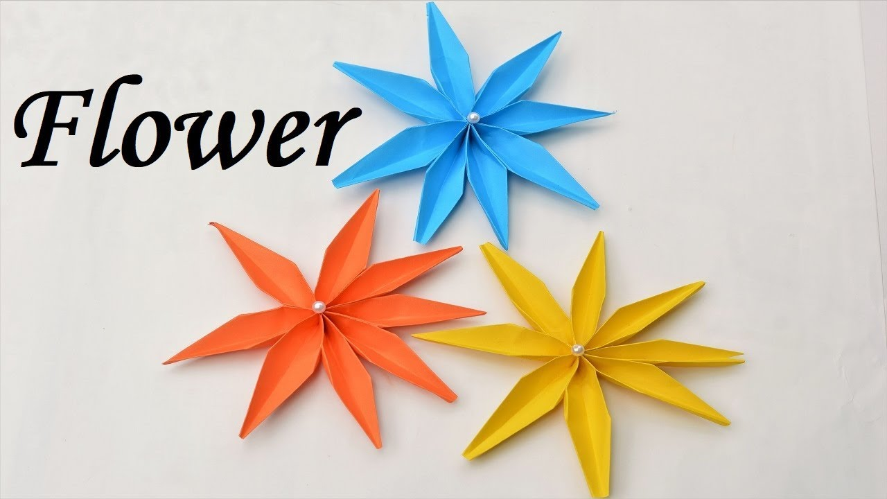 How To Make Beautiful Paper Flowers Paper Flowers Flower