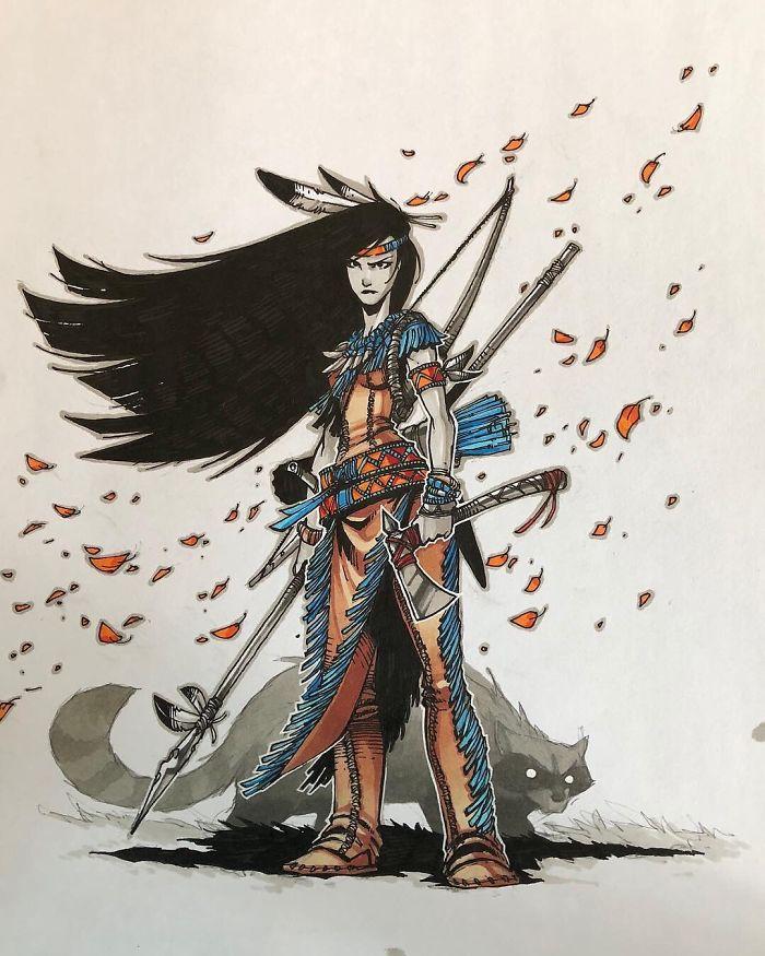 Pocahontas And A Rabid Meeko