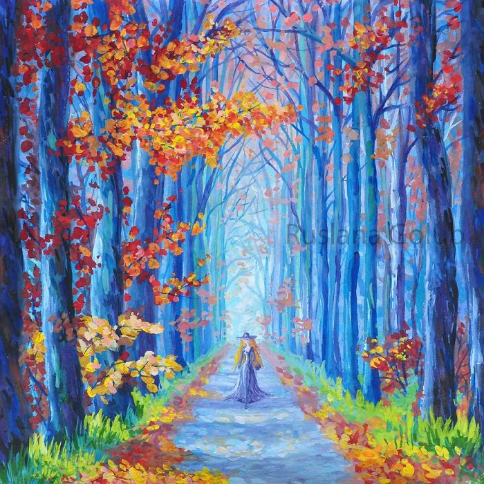 Autumn Paintings In Impressionist Style By Ruslana Golub