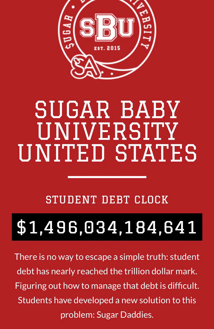 This Escorting Website Features A Live-Updated Student Debt Clock