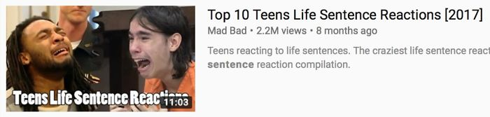 "Over 2 Million People Watched ""Top 10 Teen Life Sentence Reactions"" For Their Entertainment"