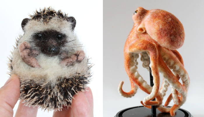 I Needle Felt Wool Sculptures Of Wildlife Animals