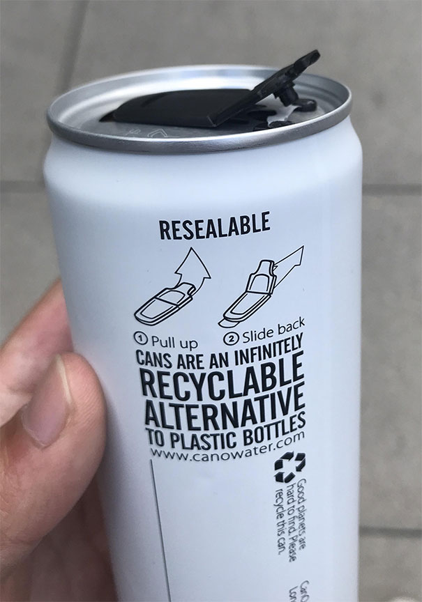 Resealable Cans Of Water