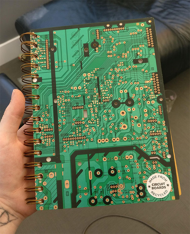 This Sketchbook Made From Real Recycled Circuit Boards