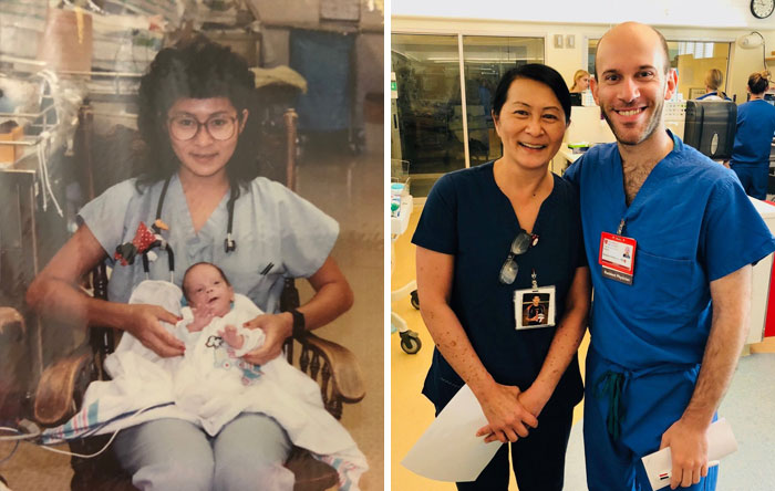 Esta enfermera, Vilma Wong, descubre que su nuevo compañero, especialista en neurología infantil, es un bebé al que cuidó hace 28 años