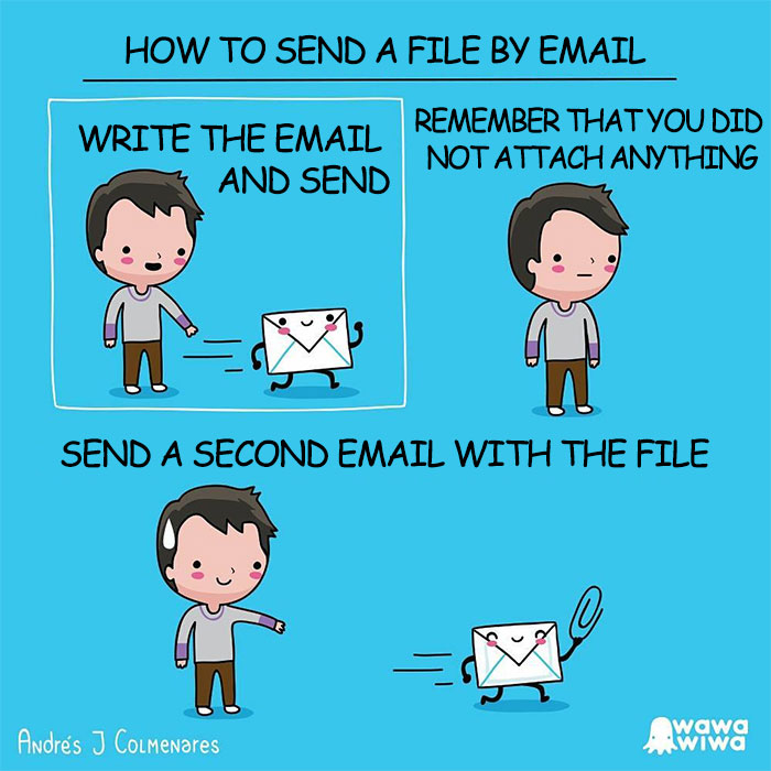 How To Send A File By Email ... Write The Email And Send ... Remember That You Did Not Attach Anything ... Send A Second Email With The File