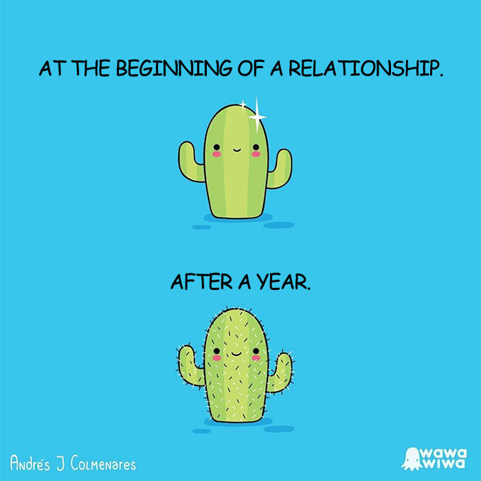 At The Beginning Of A Relationship. ... After A Year.