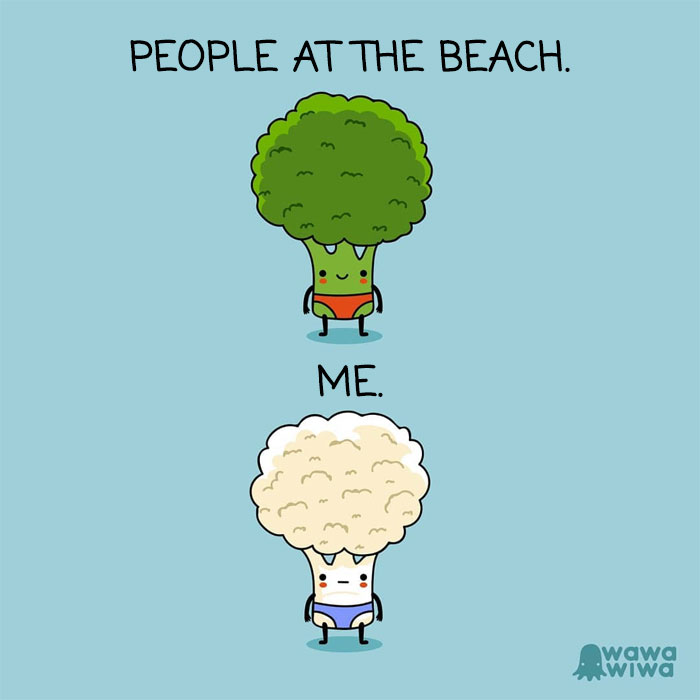 People At The Beach. ... Me.
