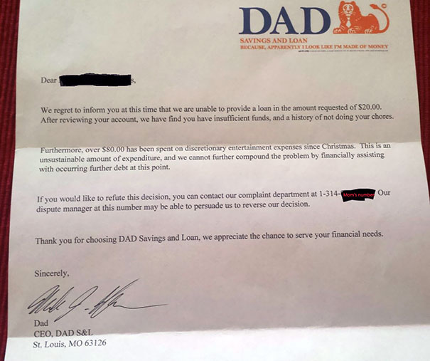 Our 6-Year-Old Asked Dad For An Advance On His Allowance For A Toy. This Is The Response He Got