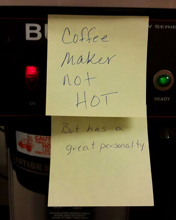 The Coffee Maker At My Office Got A Public Notice
