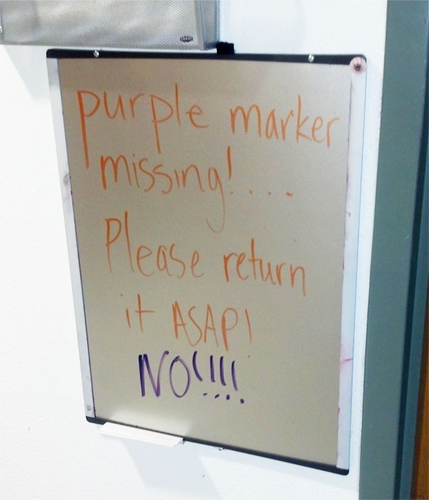 Here Is A Sign I Saw At Work