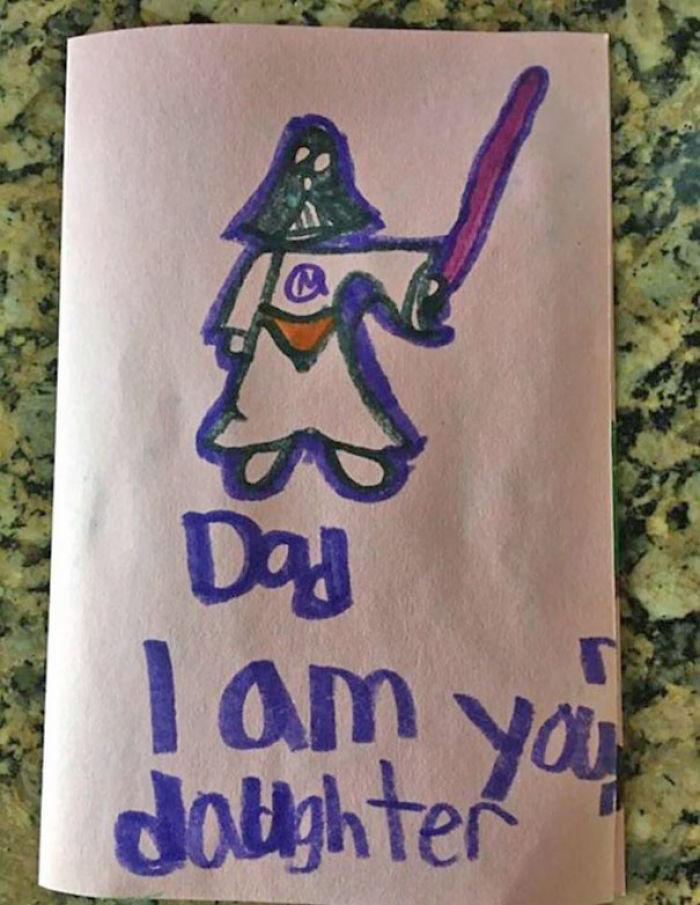 Die Tochter von meinem Freund hat Ihm eine Geburtstagskarte gebastelt