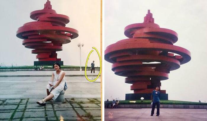 Este matrimonio chino descubrió que salen en la misma foto cuando eran adolescentes