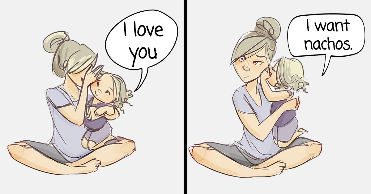 Mom Of Four Hilariously Illustrates What It's Like To Have Kids In 14+ Honest Illustrations