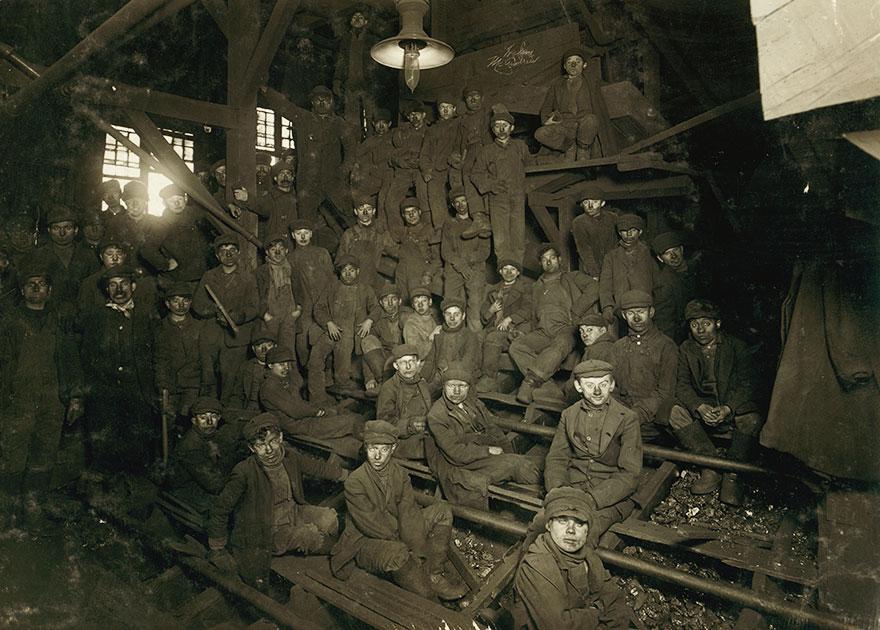 Noon Hour In The Ewen Breaker, Pennsylvania Coal Co. Location: South Pittston, Pennsylvania