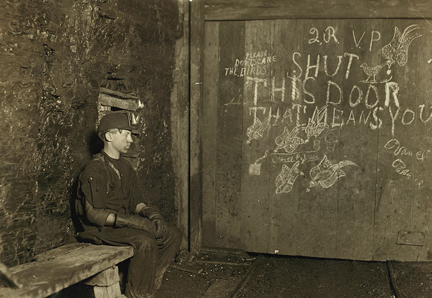 Vance, A Trapper Boy, 15 Years Old. Has Trapped For Several Years In A West Va. Coal Mine. $.75 A Day For 10 Hours Work. All He Does Is To Open And Shut This Door. Location: West Virginia