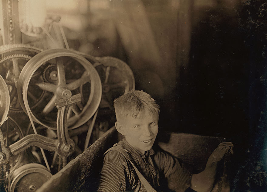 One Of The Young Spinners In The Quidwick Co. Mill. Anthony, R. I. (A Polish Boy Willie) Who Was Taking His Noon Rest In A Doffer-Box. Location: Anthony, Rhode Island