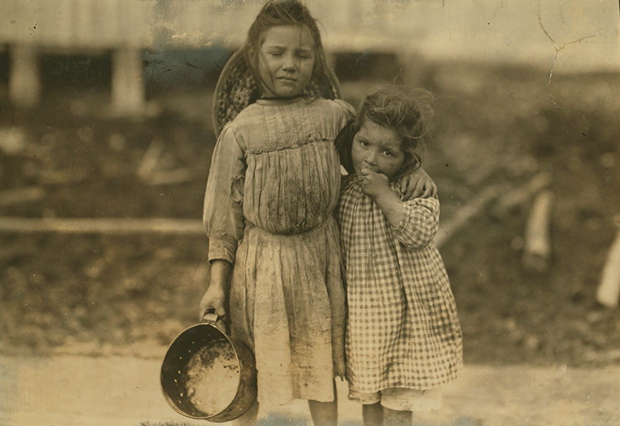 Maud Daly, Five Years Old. Grade Daly, Three Years Old. Each Picks About One Pot Of Shrimp A Day For The Peerless Oyster Co. Location: Bay St. Louis, Mississippi