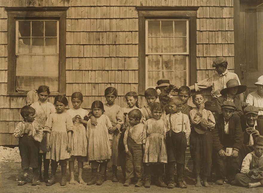 In Front Of Shacks At Noon, Florence Colony, Whites Bog, Browns Mills, N.j. This Is The Fourth Week Of School And The People Expect To Remain Two Weeks More. Location: Browns Mills, New Jersey