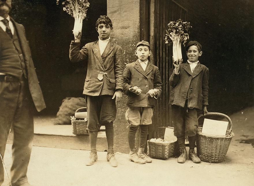 Fruit Peddlers. Boston 1915 Exhibit. Location: Boston, Massachusetts