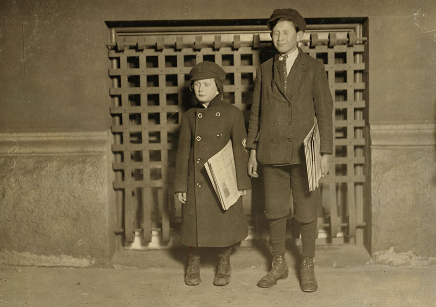 8 P.m. Harry Laudeman, 13 Years Old. Has Sold Papers For 7 Years. Brother, Morris, 7 Years Old 46 Inches High. Location: Hartford, Connecticut