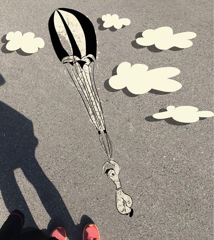 Spilled Color Parachutte