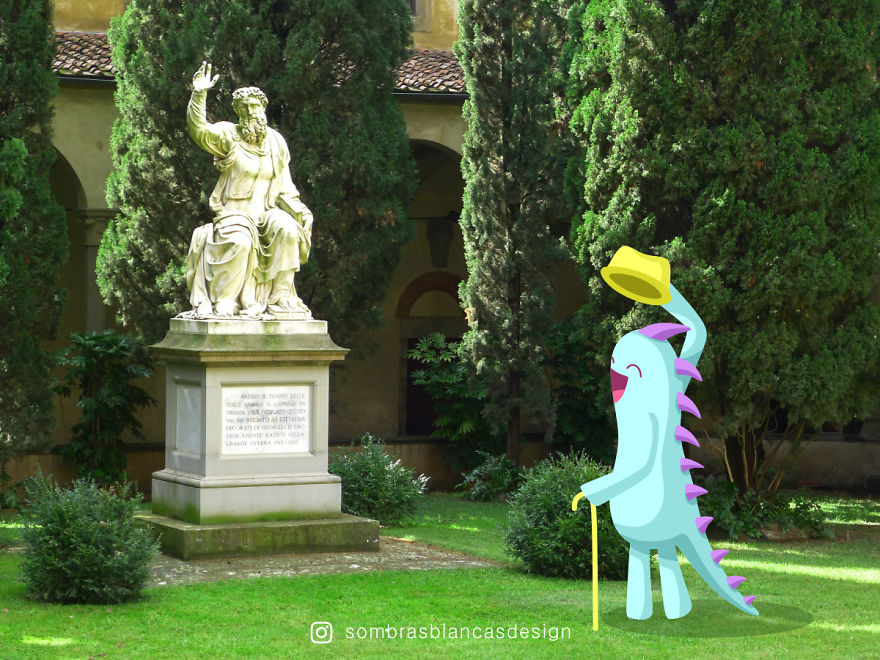 I Add Happy, Colorful Creatures To Everyday Life And Travel Photos (Part 2)