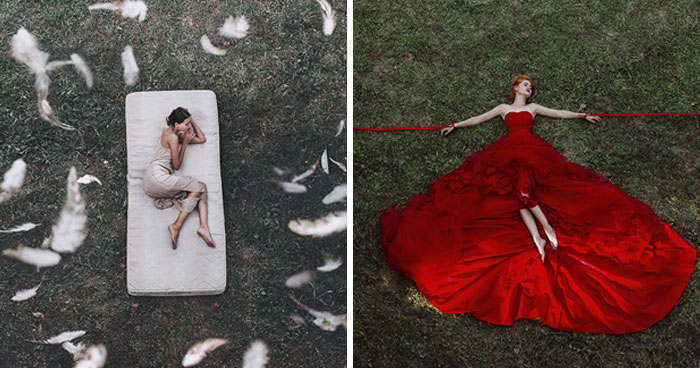 """My New Project Called """"Love Yourself"""" Features Surreal Photographs Taken From Above"""