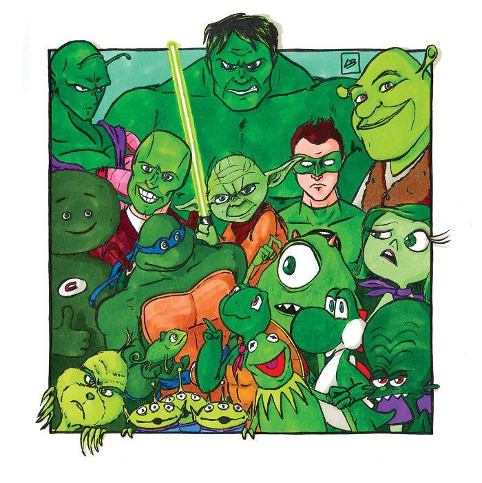 Equipo verde