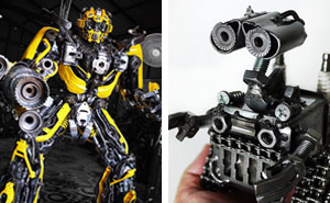 Artists Upcycle Metal Scrap Into Sculptures Of Famous Movie Characters