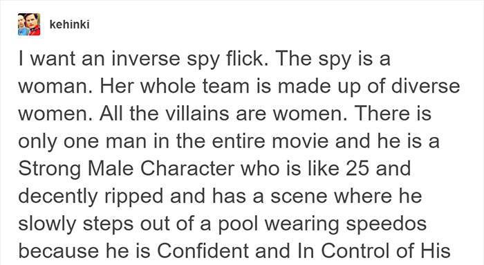 tumblr users create a spy movie plot with reversed genders roles and