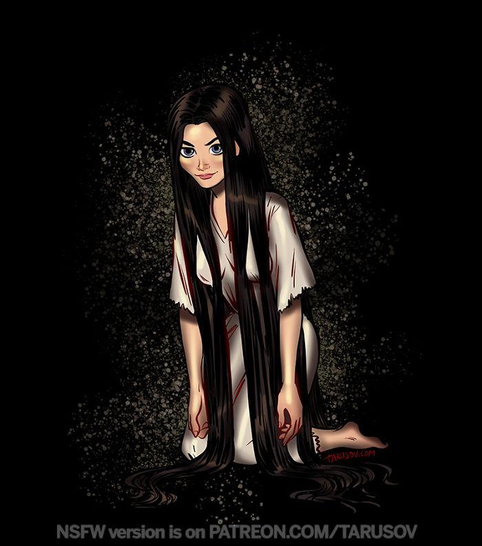 Sadako Yamamura From The Ring – Rapunzel