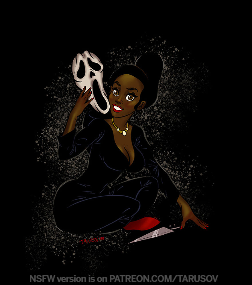 Ghostface From The Scream - Tiana