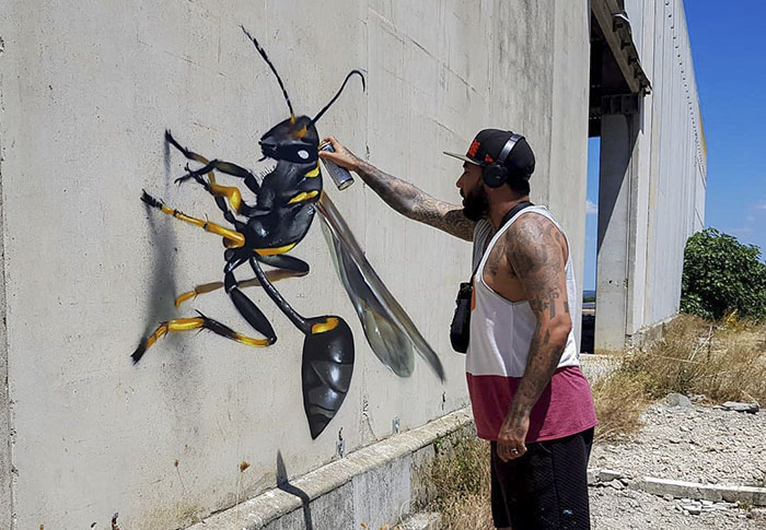 Portuguese Street Artist Paints 3D Creature Graffiti And It's Not For The Faint Of Heart (39 Pics)