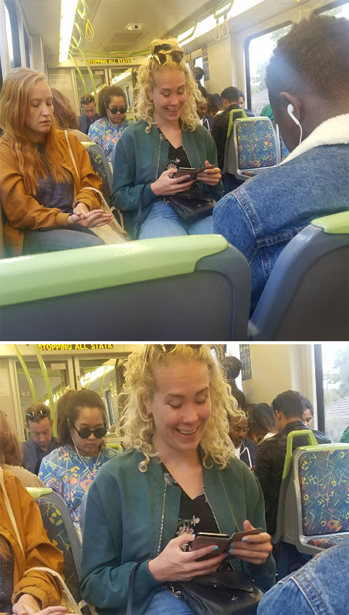The Girl In The Back Looks Like A Seat