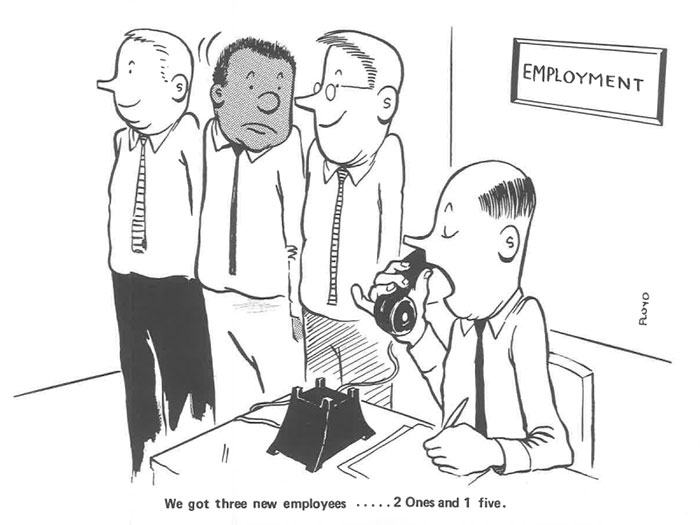 vintage comics black man office integration tom floyd10 5b9a083f6ca44  700 - This Black Man Drew What It Was Like Being The Solely Black Man In A White Workplace In The 60s, And It's Worse Than You Suppose