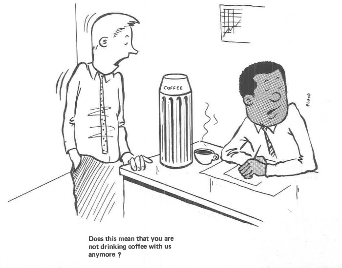 vintage comics black man office integration tom floyd101 5b9a08f9c2fcc  700 - This Black Man Drew What It Was Like Being The Solely Black Man In A White Workplace In The 60s, And It's Worse Than You Suppose