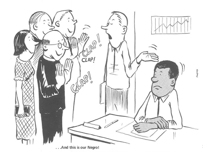 vintage comics black man office integration tom floyd14 5b9a08457d7ff  700 - This Black Man Drew What It Was Like Being The Solely Black Man In A White Workplace In The 60s, And It's Worse Than You Suppose