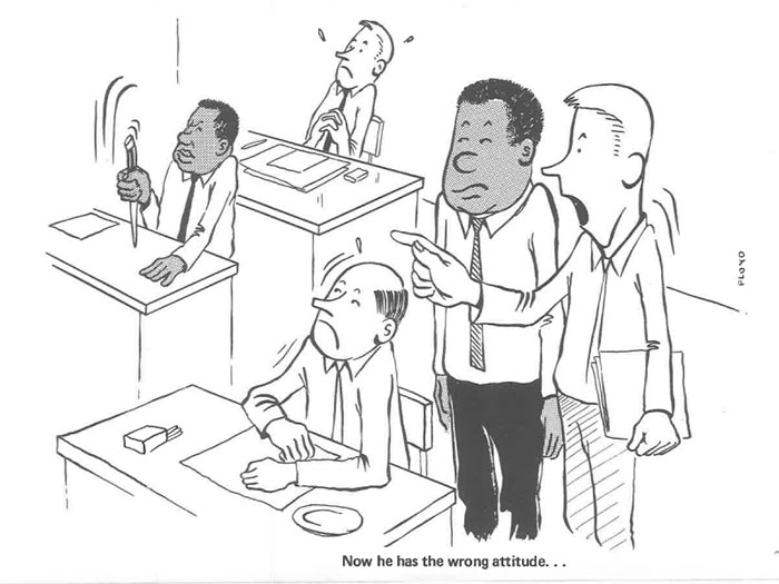 vintage comics black man office integration tom floyd16 5b9a0848b0158  700 - This Black Man Drew What It Was Like Being The Solely Black Man In A White Workplace In The 60s, And It's Worse Than You Suppose