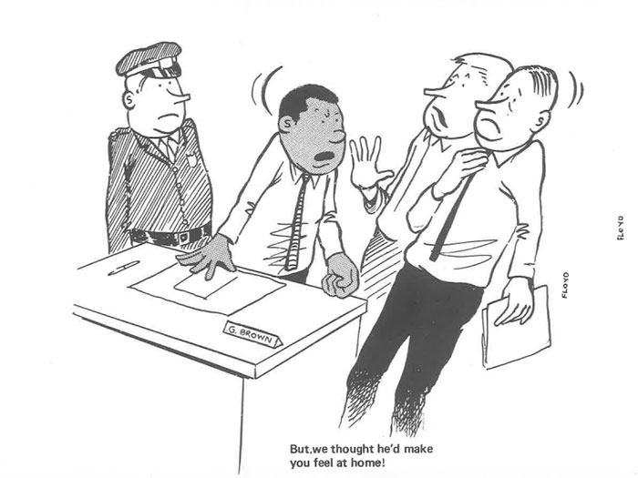 vintage comics black man office integration tom floyd20 5b9a084eda118  700 - This Black Man Drew What It Was Like Being The Solely Black Man In A White Workplace In The 60s, And It's Worse Than You Suppose