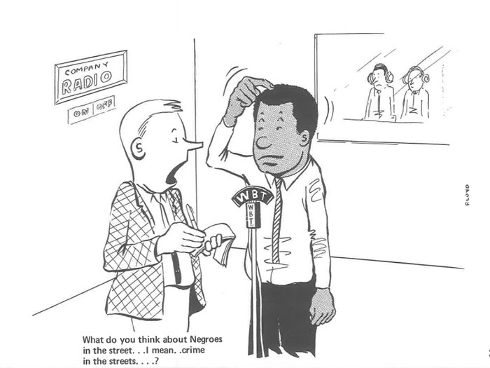 vintage comics black man office integration tom floyd26 5b9a0858767f4  700 - This Black Man Drew What It Was Like Being The Solely Black Man In A White Workplace In The 60s, And It's Worse Than You Suppose