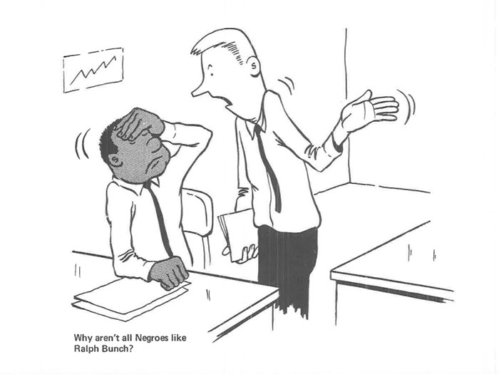 vintage comics black man office integration tom floyd29 5b9a085d15991  700 - This Black Man Drew What It Was Like Being The Solely Black Man In A White Workplace In The 60s, And It's Worse Than You Suppose