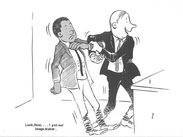 vintage comics black man office integration tom floyd3 5b9a0832c5074  700 - This Black Man Drew What It Was Like Being The Solely Black Man In A White Workplace In The 60s, And It's Worse Than You Suppose