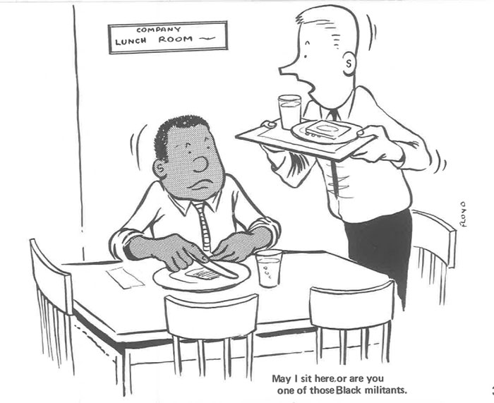 vintage comics black man office integration tom floyd30 5b9a085ec7ed0  700 - This Black Man Drew What It Was Like Being The Solely Black Man In A White Workplace In The 60s, And It's Worse Than You Suppose